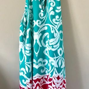 Tyche Floral Shift Dress w/neck tie - Size Small